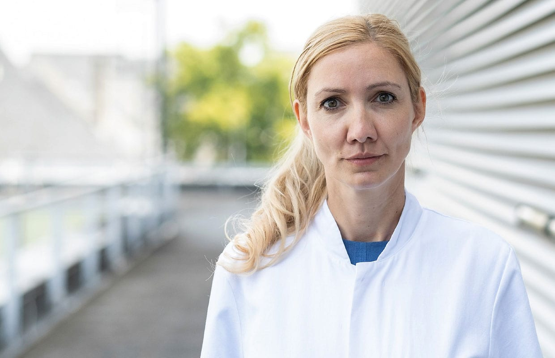 Prof. Dr. Med. Sandra Ciesek im Interview © Universitätsklinikum Frankfurt, Fotografin: Ellen Lewis